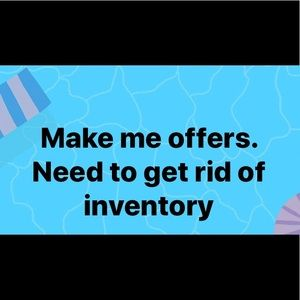 All offers welcomed.